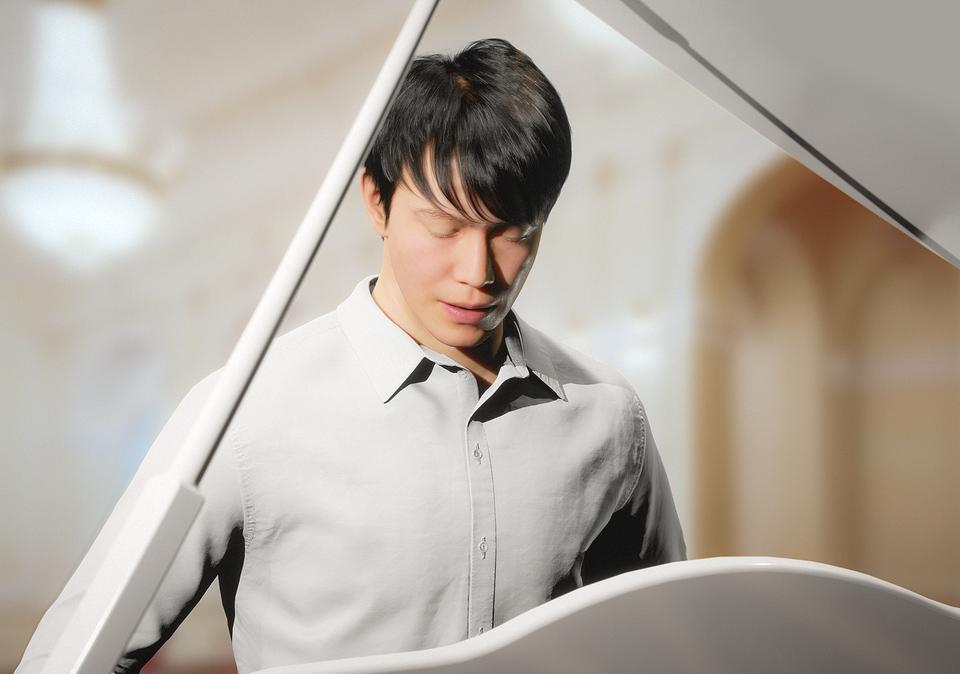 지난 5월 27일 서울 그랜드 하얏트 호텔에서 이모션웨이브가 세계 최초로메타버스 기반 AI 피아니스트 '한울(사진)'과 인공지능으로 작곡한 음악 선보였다.